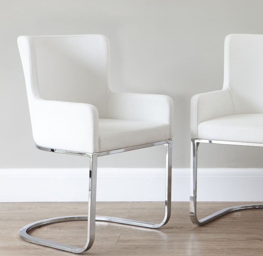Form Cantilever Dining Armchair in White