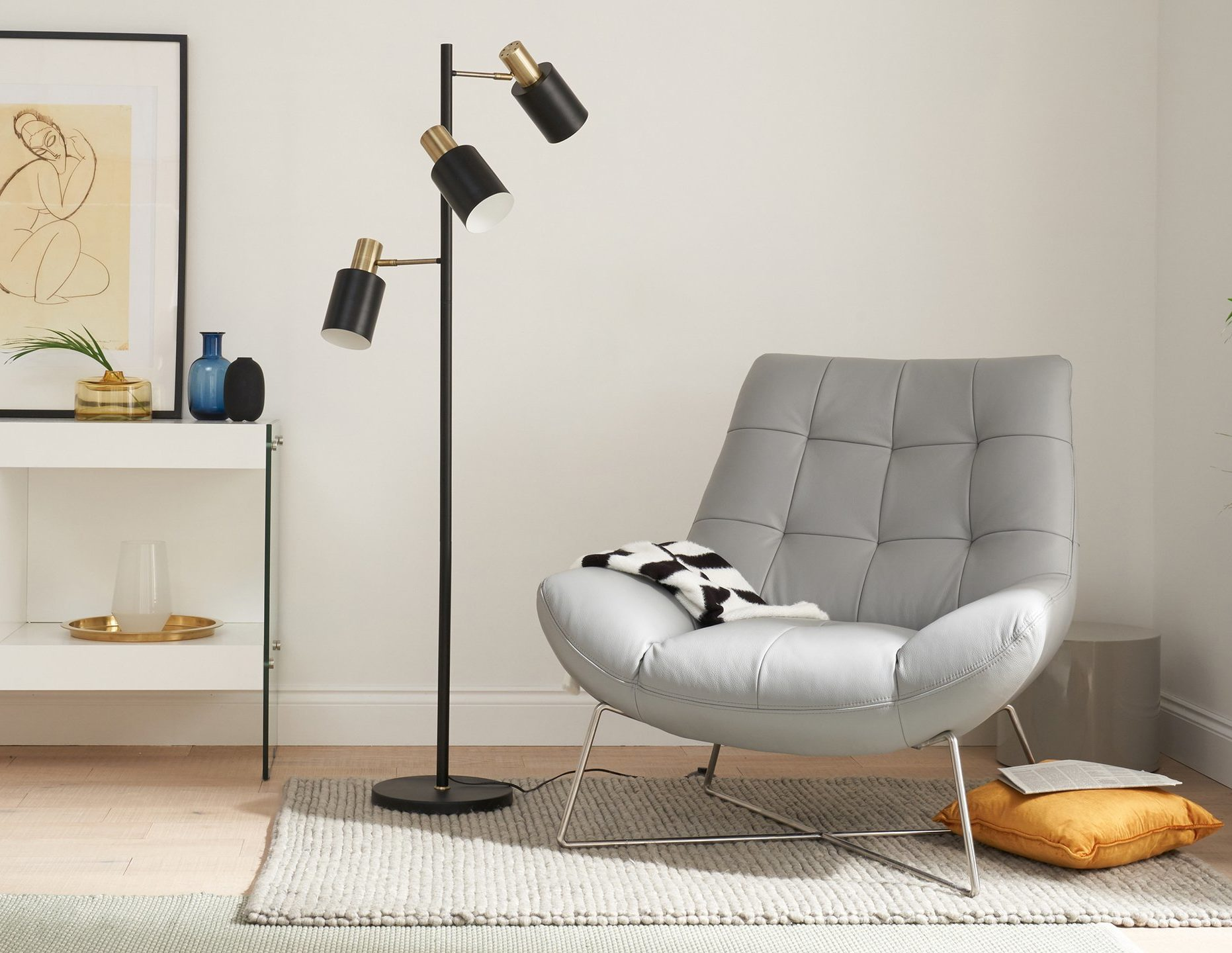 Hugo Floor Lamp and Canio Occasional Chair