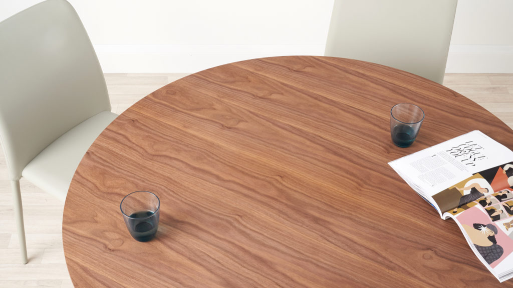 Alessio Walnut Round 4 Seater Dining Table