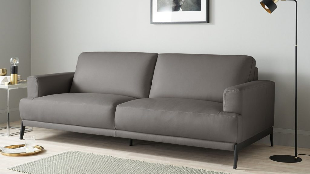 Mona 3 Seater Leather Sofa