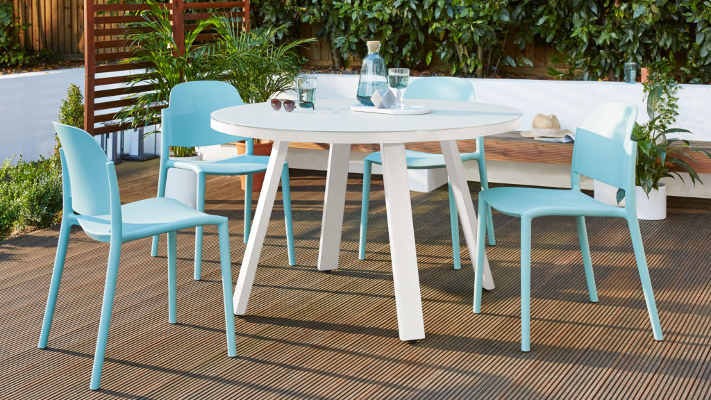 Koko white garden dining table